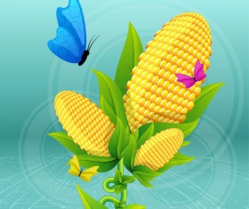 Elements of cartoon Plant Illustration vector 01