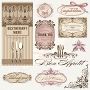 Link toVintage restaurant menu design elements vector