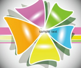 Colorful Template creative vector background 01