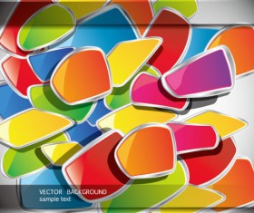 Colorful Template creative vector background 02