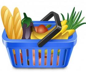 Supermarket Shopping elements vector 05