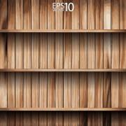 Link toWooden bookshelf background vector 02