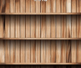 wooden Bookshelf background vector 02