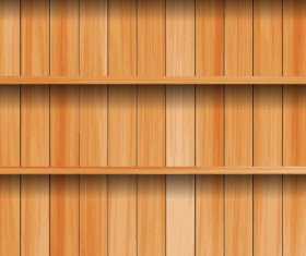 wooden Bookshelf background vector 03