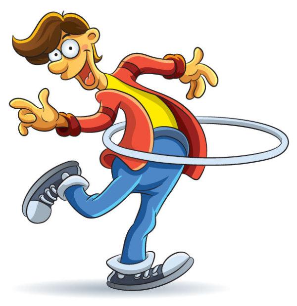Free coloring pages karate - Funny Of Cartoon Boy Vector 03 Vector Cartoon Vector