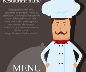 Restaurant menu cook background vector