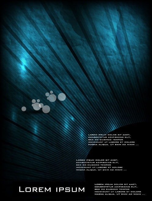 Set of Cover brochure background vector 04