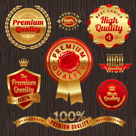 luxury Business labels and Badge vector 01