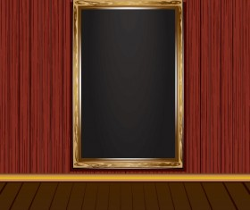 Set of Vintage wooden Photo Frame vector 01