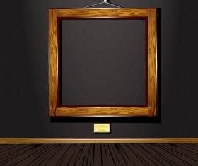 Set of Vintage wooden Photo Frame vector 04