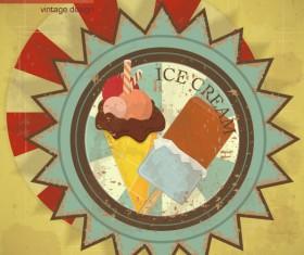 Set of Food vintage card grunge background vector 01