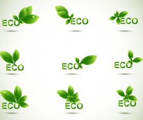 Eco elements vector set 04