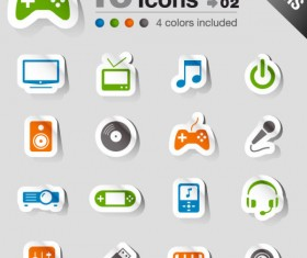 Set of eps Icon stickers elements 03