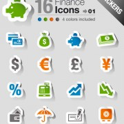 Link toSet of eps icon stickers elements 05