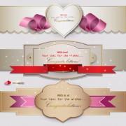 Link toRomantic and love banner vector 01