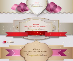 Romantic and love banner vector 01