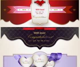 Romantic and love banner vector 03