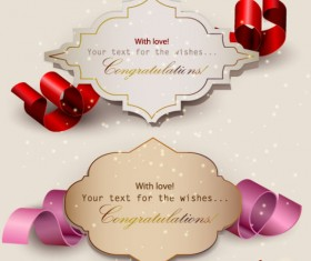 Set of Romantic and love labels vector 01