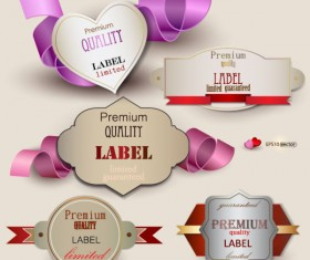 Set of Romantic and love labels vector 02