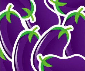 Cute vegetables vector background 01