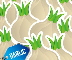 Cute vegetables vector background 05