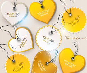 Set of Romantic and love labels vector 03