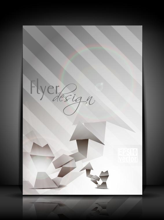 flyer and brochure background vector 03