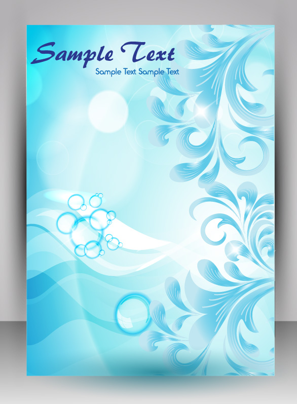 flyer and brochure background vector 04