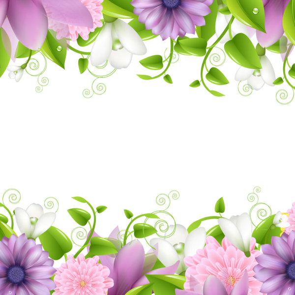 Vivid with Flowers Borders vector 01 - Vector Flower ...