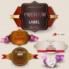 Set of Romantic and love labels vector 04