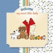 Link toCartoon small animal elements baby card vector 03