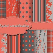 Link toSet of floral fabric background vector 03