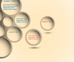 Set of Trendy web design bubble vector 02