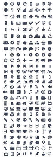 Various web icon Collection vector 01