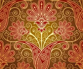 Set of pattern paisley elements vector 02