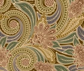 Set of pattern paisley elements vector 03