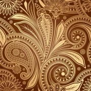 Link toSet of pattern paisley elements vector 04