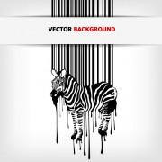 Link toCreative barcode background vector set 01
