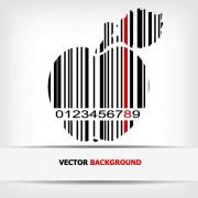 Link toCreative barcode background vector set 02