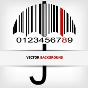 Link toCreative barcode background vector set 04