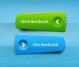 blue and Yellow web Buttons elements psd