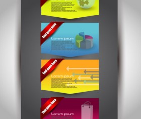 Set over brochure design elements vector background 01