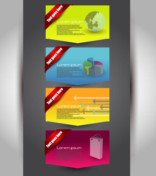 Set over brochure design elements vector background 01