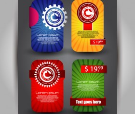 Set over brochure design elements vector background 02
