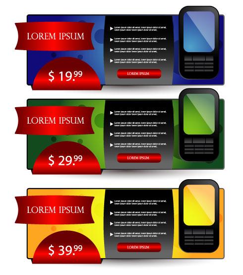 Set over brochure design elements vector background 04