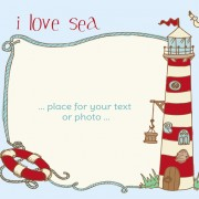 Link toI love sea theme elements background vector 01
