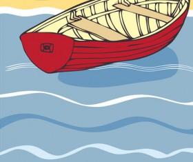 I love sea Theme elements background vector 03
