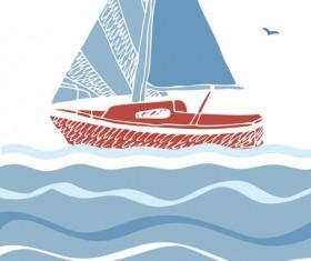 I love sea Theme elements background vector 04