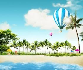 Summer beach Theme PSD template