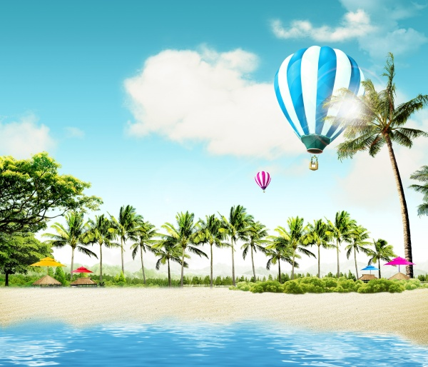 summer beach theme psd template free download